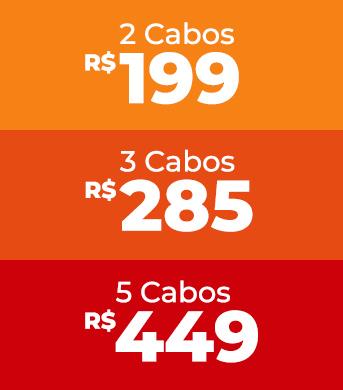 Preços dos combos de cabos