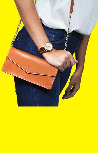 Handbag, bolsa com couro sintético