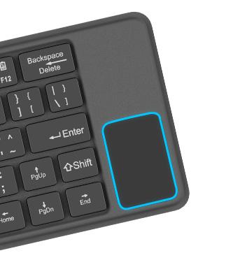 Novo teclado bluetooh possui touchpad que funciona como mouse!