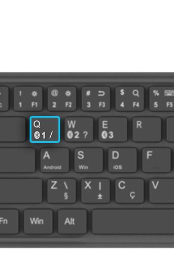 Novo teclado bluetooth permite emparelhamento com até 3 dispositivos