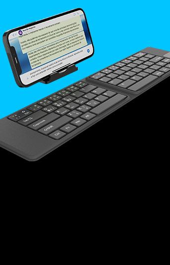 Novo teclado bluetooth aumenta a sua produtividade